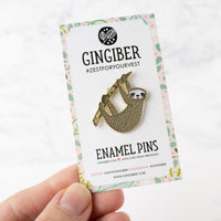 Sloth Enamel Pin by Gingiber
