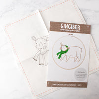 Merriment Bear Hand Embroidery Pattern (20% OFF)