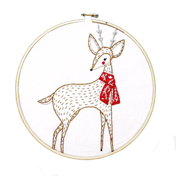 Merriment Deer Hand Embroidery Pattern (20% OFF)