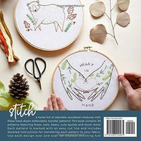 Woodland Stitches Embroidery Transfer Pattern Book