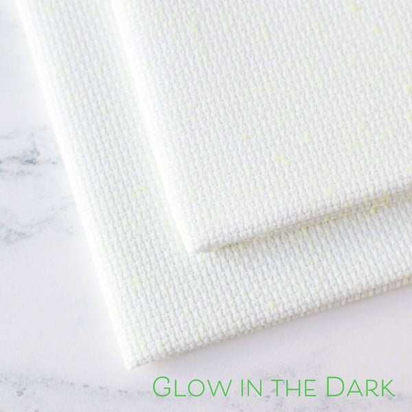 Glow in the Dark Aida Fabric