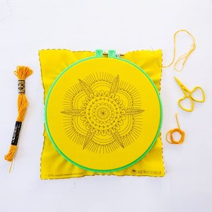 Golden Mandala Hand Embroidery Kit