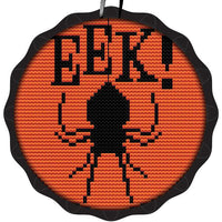Tart Tin Cross Stitch Halloween Ornament Kit - Spooky Spider