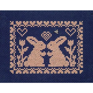 Spring Silhouette Cross Stitch Pattern - Bunny Love
