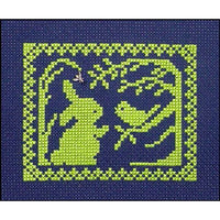 Spring Silhouette Cross Stitch Pattern - Bunny Hears the Song of Spring