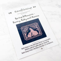 Spring Silhouette Cross Stitch Pattern - Bunny, Baby and Momma