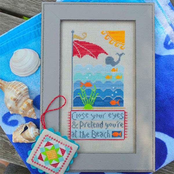 At the Beach Cross Stitch Pattern