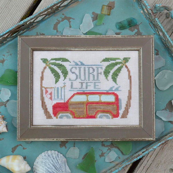 Surf Life Cross Stitch Pattern