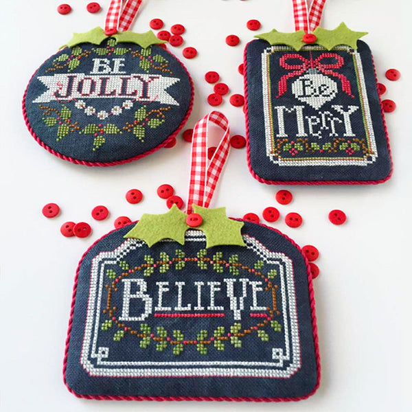 Chalkboard Ornaments Cross Stitch Pattern - Part 1