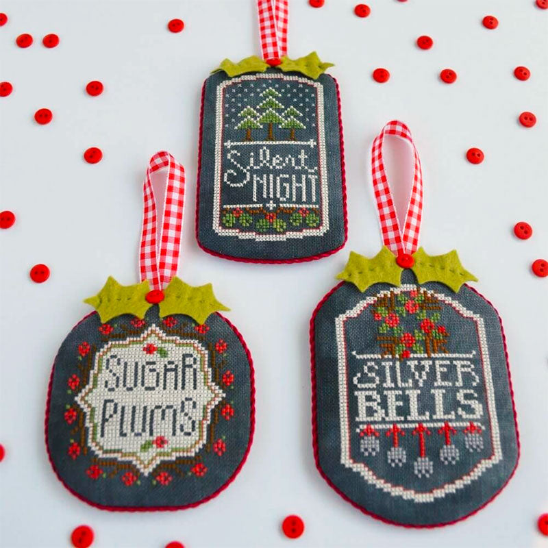 Chalkboard Ornaments Cross Stitch Pattern