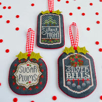 Chalkboard Ornaments Cross Stitch Pattern - Part 3