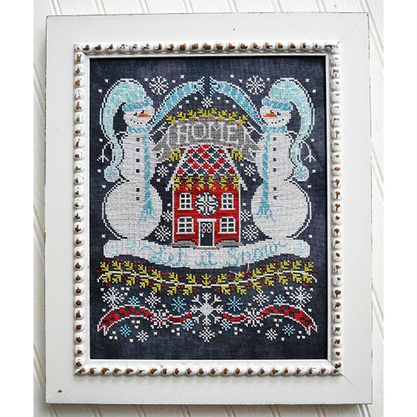 Chalkboard Cross Stitch Pattern - Let It Snow Bungalow