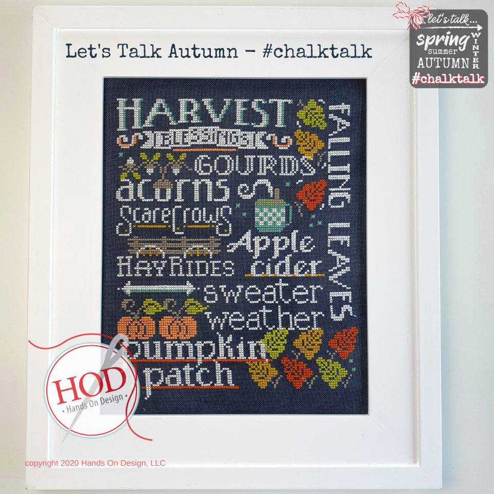 Let's Talk Autumn Cross Stitch Pattern