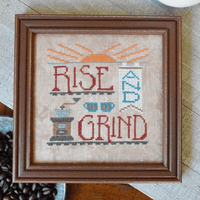 Rise and Grind Cross Stitch Pattern