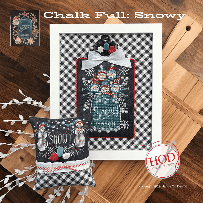 Chalkboard Cross Stitch Pattern - Snowy Chalk Full