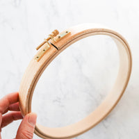 "Premium Hardwood Embroidery Hoops - 7/8"" Thick"