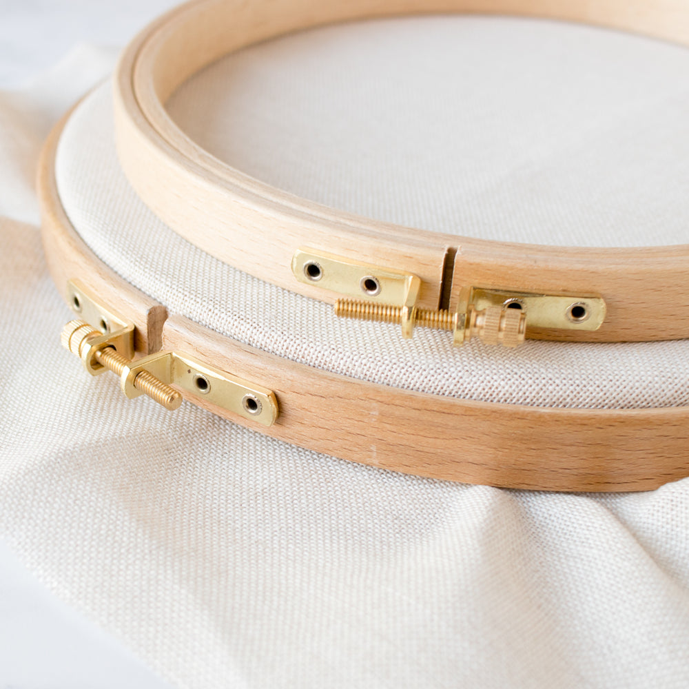 Premium Hard Wood Embroidery Hoops - Round