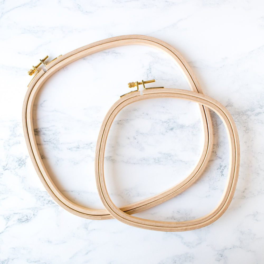 Premium Hard Wood Embroidery Hoops - Square