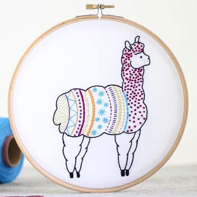 Alpaca Contemporary Hand Embroidery Kit