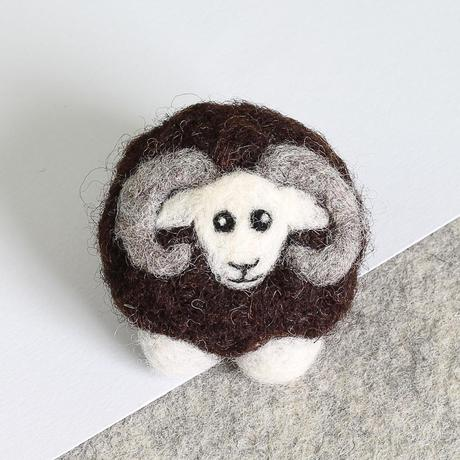 Black Sheep Brooch Needle Felting Kit