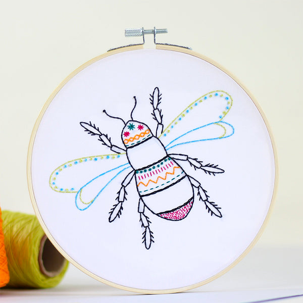 Bee Contemporary Hand Embroidery Kit