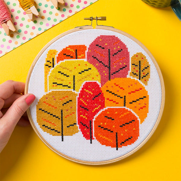 Autumn Trees Cross Stitch Kit