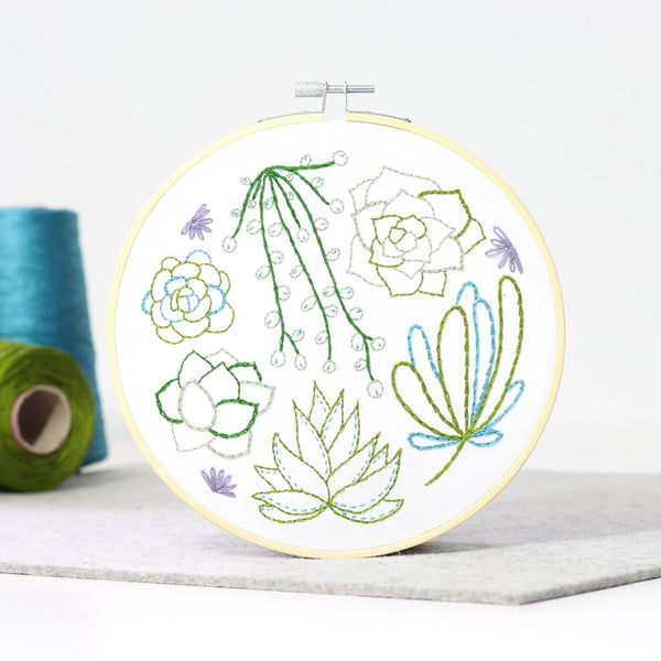Succulents Hand Embroidery Kit