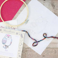 Owl Contemporary Hand Embroidery Kit