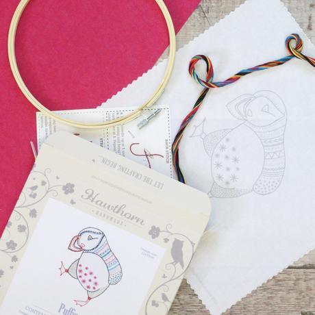 Puffin Contemporary Hand Embroidery Kit