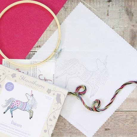 Unicorn Contemporary Hand Embroidery Kit