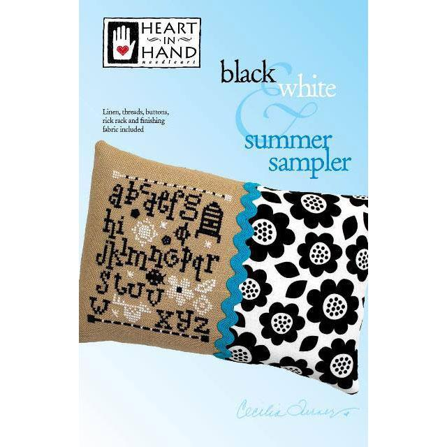 Black and White Summer Sampler Cross Stitch Kit