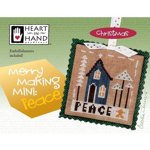 Merrymaking Mini Peace Cross Stitch Pattern