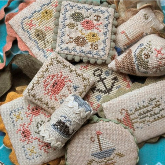 Festive Little Fobs Cross Stitch Pattern - Seaside Edition
