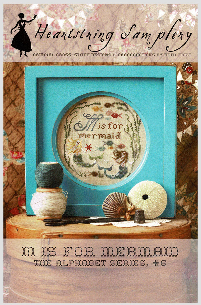 M for Mermaid Cross Stitch Pattern