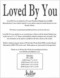 Loved By You Cross Stitch Pattern