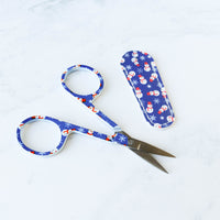 Holiday Themed Embroidery Scissors with Matching Sheath