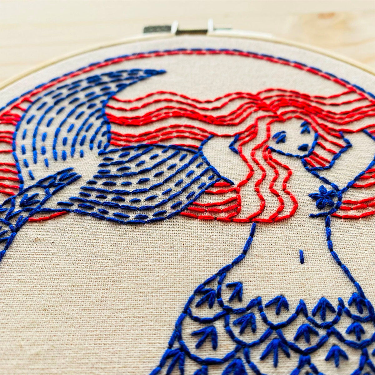 Mermaid Hair (Don't Care!) Hand Embroidery Kit