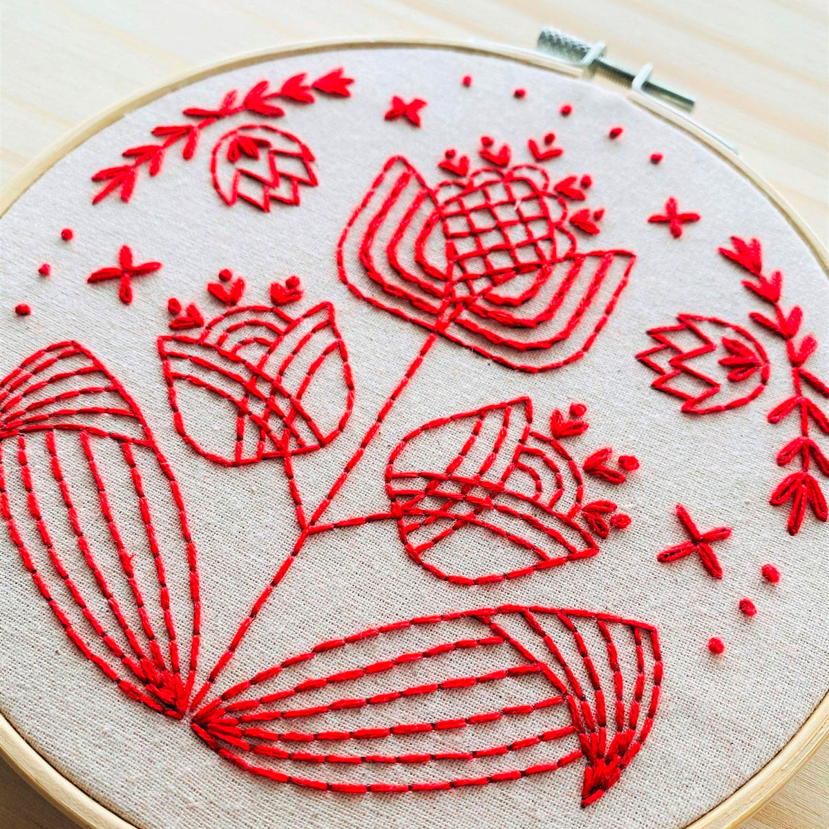 Tulips in Symmetry Hand Embroidery Kit