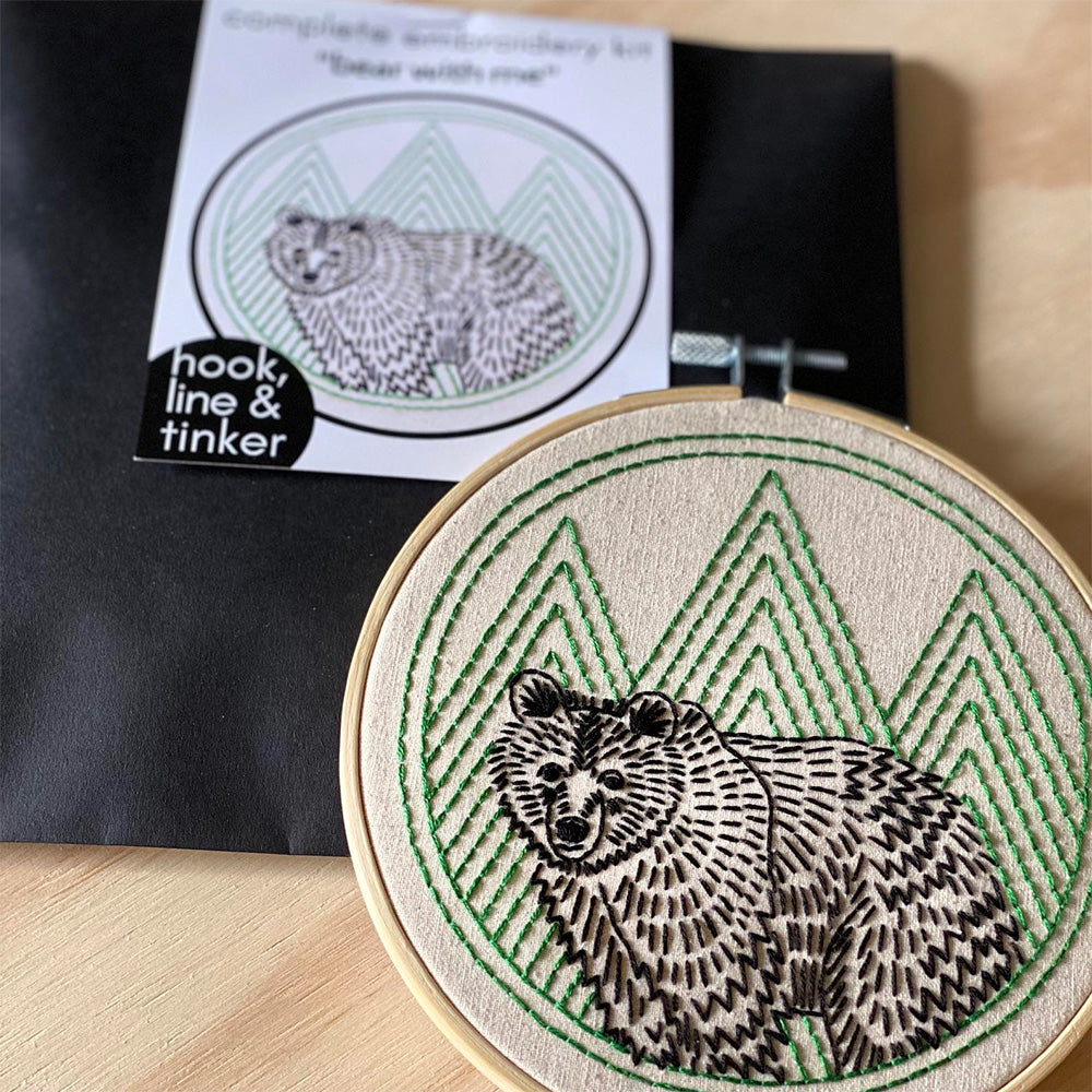 Bear With Me Hand Embroidery Kit