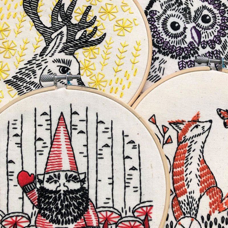 Gnomework Hand Embroidery Kit