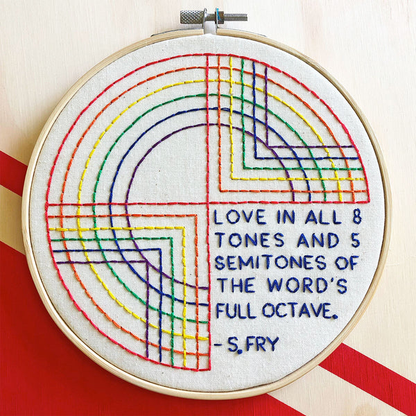 Love is Love is Love Hand Embroidery Kit