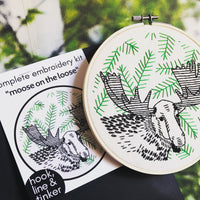 Moose on the Loose Hand Embroidery Kit