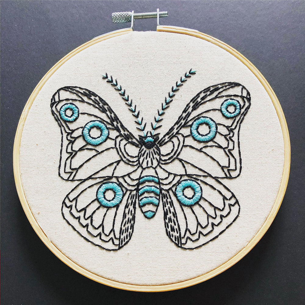 Moth on Cloth Hand Embroidery Kit