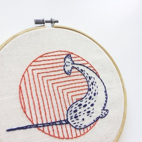 Narwhal Hand Embroidery Kit