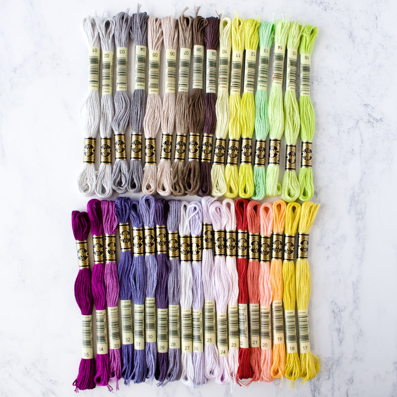 DMC Embroidery Floss Collection - 35 New Colors
