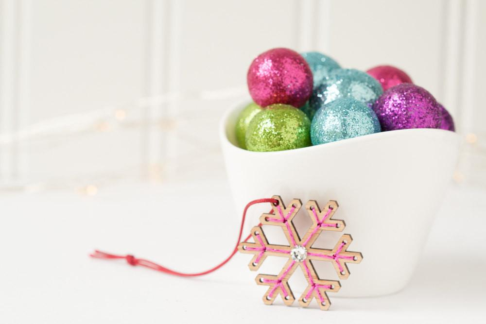 Mini Snowflake Ornament Embroidery Kit