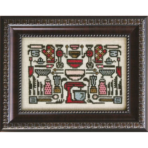 Arranging the Kitchen Aids Cross Stitch Pattern