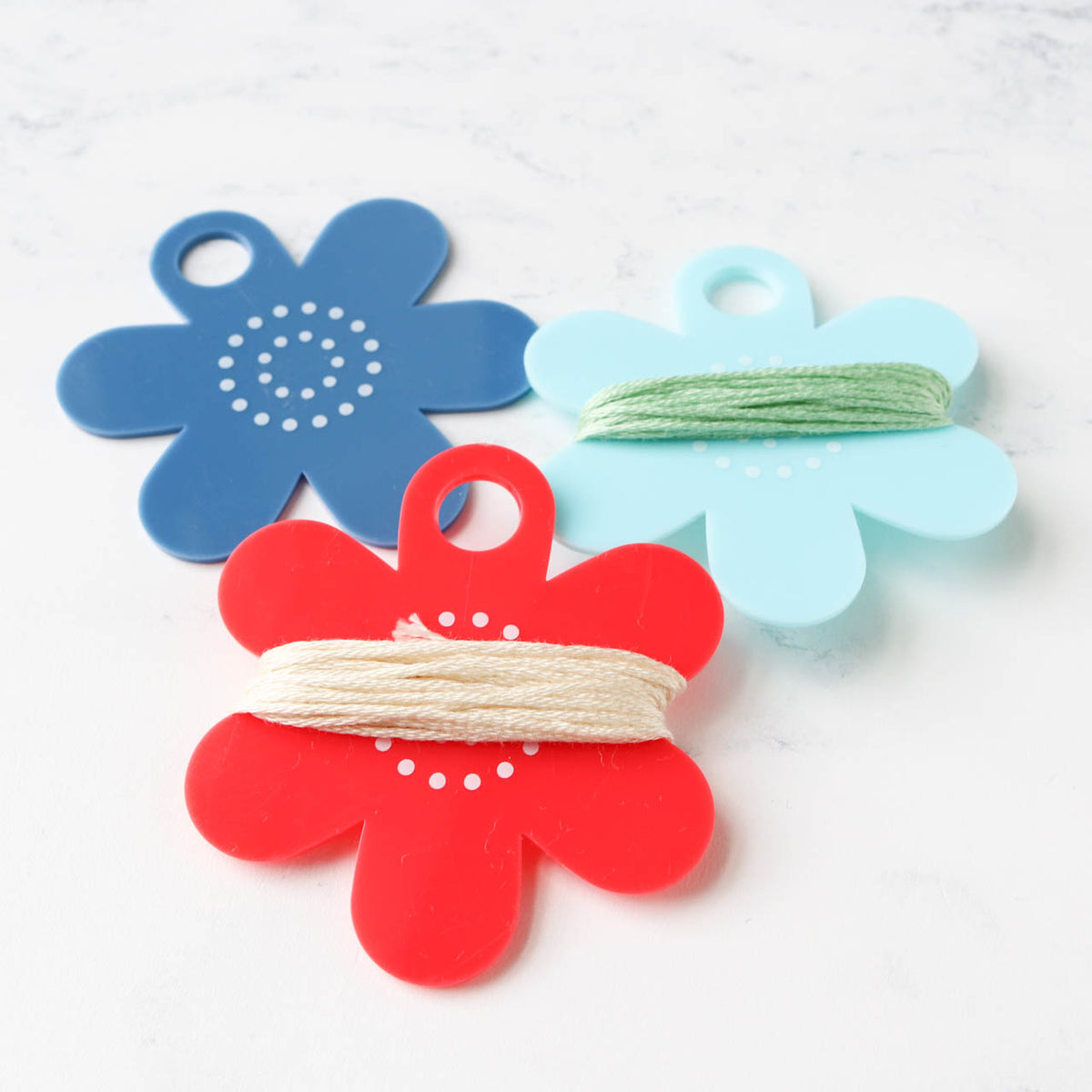 Floss Flower Thread Bobbins and Label Set