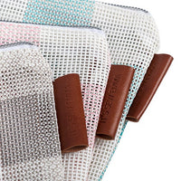 Gingham Mesh Project Bags - Set of 3