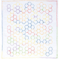 Sashiko Embroidery Kit - Grandmother's Flower Garden